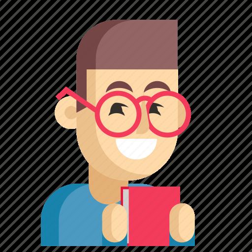 Asia, avatar, job, librarian, man, profession, work icon - Download on Iconfinder
