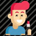 asia, avatar, job, man, profession, visagiste, work icon