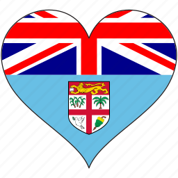 fiji, flag, flags, heart icon