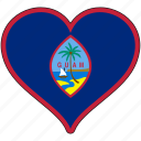 flag, guam, heart, flags