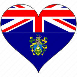 flag, flags, heart, pitcairn islands icon