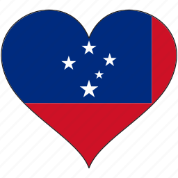 flag, flags, heart, samoa icon