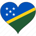 flag, heart, solomon islands, flags