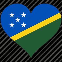 flag, flags, heart, solomon islands icon