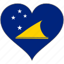 flag, flags, heart, tokelau icon