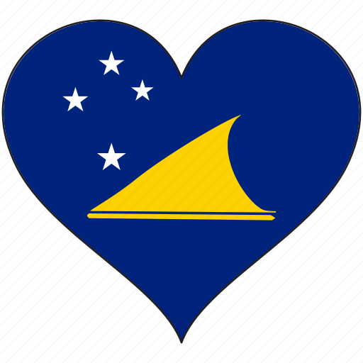 flag, flags, heart, tokelau icon