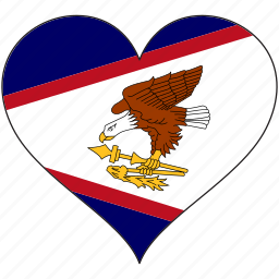 american samoa, country, flag, heart icon
