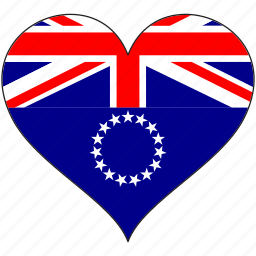 cook islands, flag, flags, heart icon
