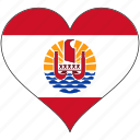 flag, flags, french polynesia, heart icon