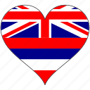 flag, hawaii, heart, flags