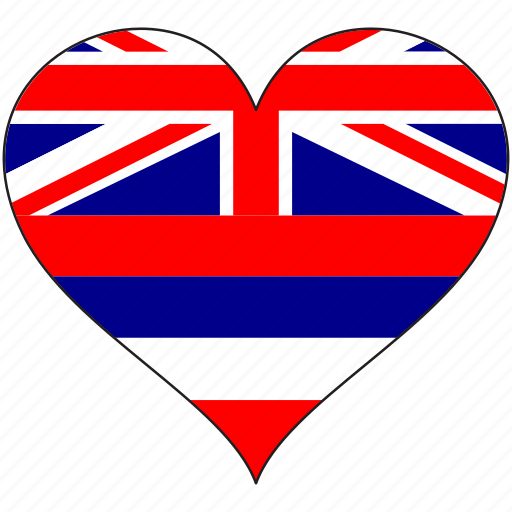 flag, flags, hawaii, heart icon