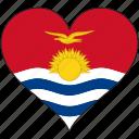 flag, heart, kiribati, flags
