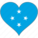flag, flags, heart, micronesia icon