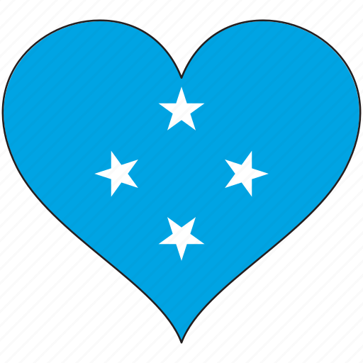 Flag, heart, micronesia, flags icon - Download on Iconfinder