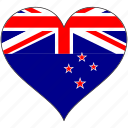flag, flags, heart, new zealand icon