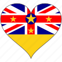 flag, heart, niue, flags