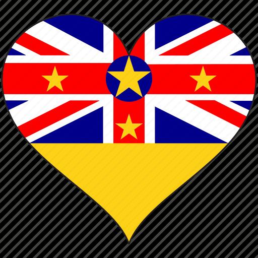 flag, flags, heart, niue icon