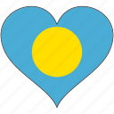 flag, flags, heart, palau icon