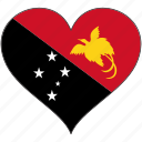 flag, heart, papua new guinea, national