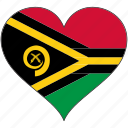 flag, flags, heart, vanuatu icon