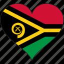 flag, heart, vanuatu, flags
