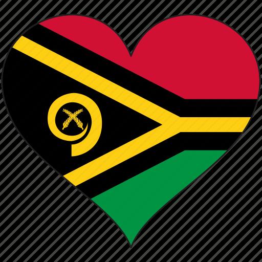 flag, flags, heart, vanuatu icon