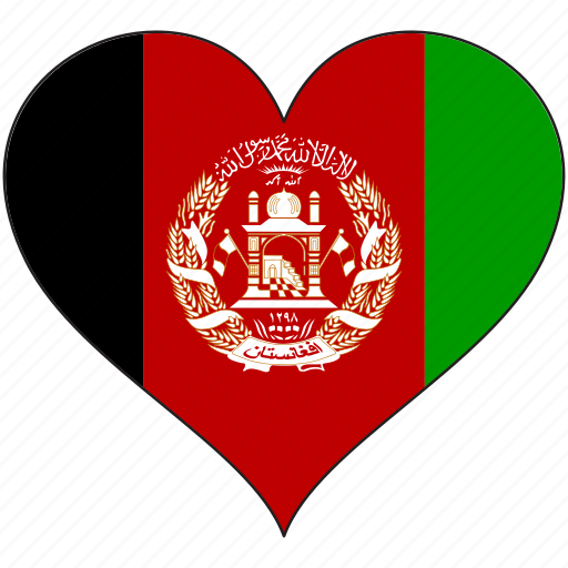 afghanistan, flag, flags, heart icon