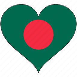 bangladesh, flag, flags, heart icon