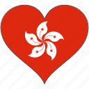 flag, heart, hong kong, national