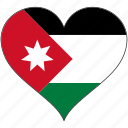 flag, heart, jordan, national