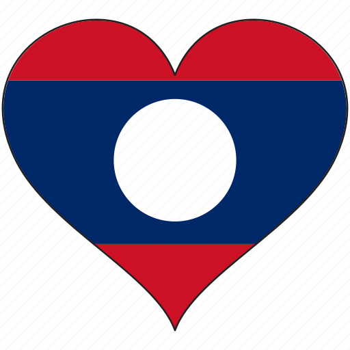 Flag, heart, laos, country icon - Download on Iconfinder