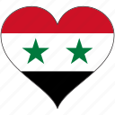 country, flag, heart, syria icon
