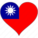 flag, flags, heart, taiwan icon