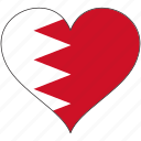 bahrain, flag, heart, flags