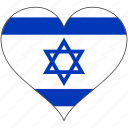 flag, heart, israel, national