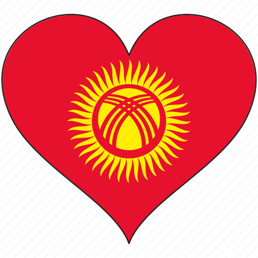 Flag, heart, kyrgyzstan, country icon - Download on Iconfinder