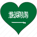 country, flag, heart, saudi arabia icon
