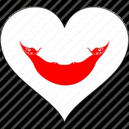 flag, heart, national, rapa nui icon