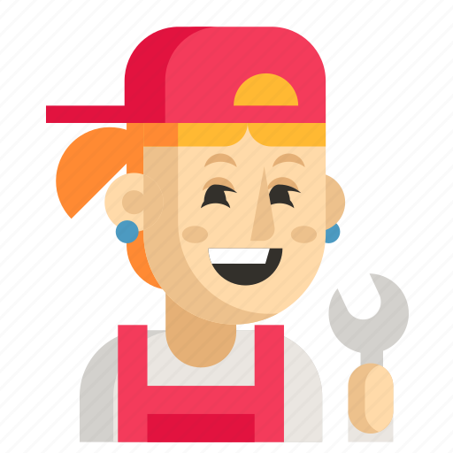 Asia, avatar, job, mechanic, profession, woman, work icon - Download on Iconfinder