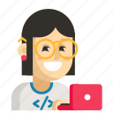 asia, avatar, job, profession, programmer, woman, work