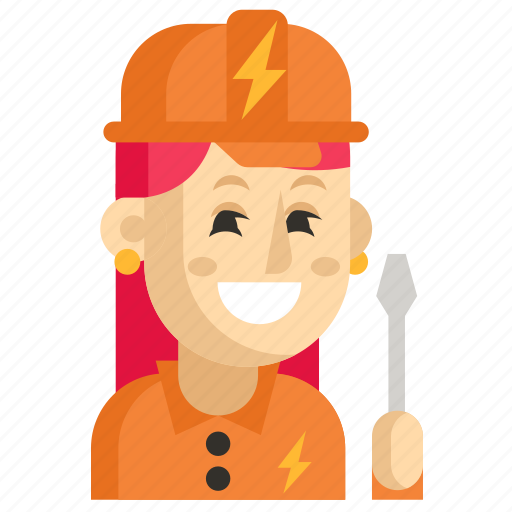 Asia, avatar, electrician, job, profession, woman, work icon - Download on Iconfinder