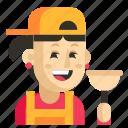 asia, avatar, job, plumber, profession, woman, work