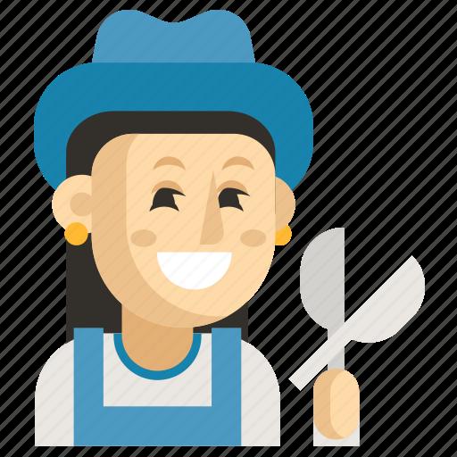 Asia, avatar, gardener, job, profession, woman, work icon - Download on Iconfinder