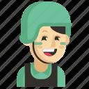 asia, avatar, job, profession, soldier, woman, work