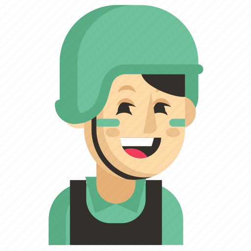 Asia, avatar, job, profession, soldier, woman, work icon - Download on Iconfinder
