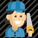 asia, avatar, carpenter, job, profession, woman, work