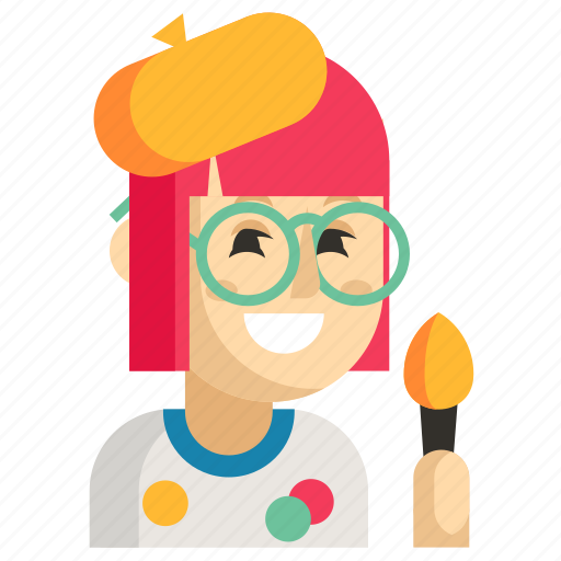 Asia, avatar, job, painter, profession, woman, work icon - Download on Iconfinder