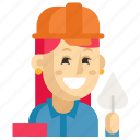 asia, avatar, builder, job, profession, woman, work