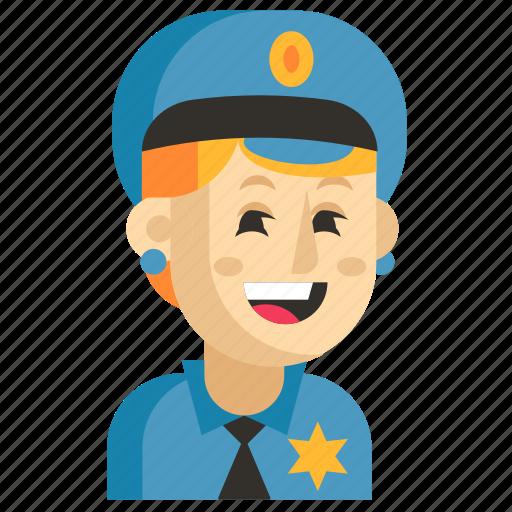 Asia, avatar, job, policeman, profession, woman, work icon - Download on Iconfinder
