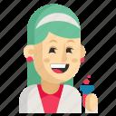 asia, avatar, chemist, job, profession, woman, work